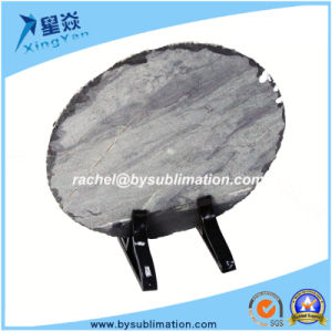 Wholesale Round Sublimation Rock Slate pictures & photos