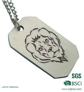 Custom Design Aluminum Colorful Stamped Dog Tag pictures & photos
