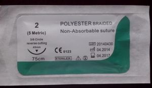 Medical Supply, Polyester Suture with Needle USP4/0 pictures & photos