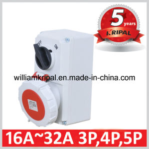 IP67 32A 3p+N+E Wall Mounted Switch Socket pictures & photos