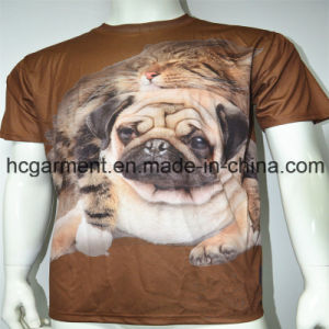 3D Polyester Sublimation Printed Round Neck T- Shirt for Man pictures & photos