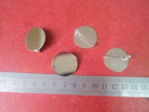 Factory Supply Cheap Price Metal Round Badge Safety Pin
