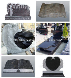 Black Stone Monument, Granite Grave Cross Tombstone / Headstone for Cemetery pictures & photos