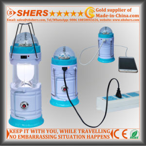 Rechargeable Camping Lantern with Disco Lamp, 1W Flashlight (SH-1995C) pictures & photos