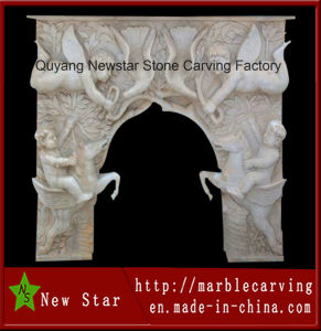 Angel Sculpture Marble Fireplace for Luxury Indoor Decoration (NS-1222) pictures & photos
