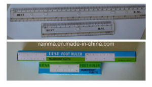 30 Cm Transparent Plastic Ruler for School or Office Stationery pictures & photos