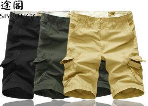 100% Cotton Garment Dye Man Wholesale Cargo Pocket Shorts pictures & photos