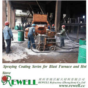 Spraying Coating Series for Blast Furnace and Hot Stove pictures & photos