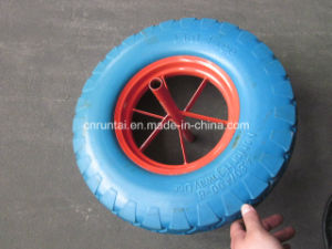 Blue Color Hot Sell New Material Durable Use PU Wheel (4.00-8) pictures & photos