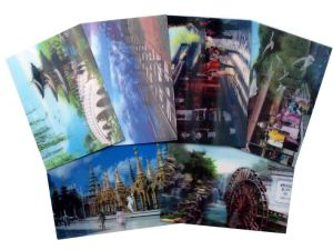 Custom Printing Thailand Scenery Lenticular 3D Postcard pictures & photos