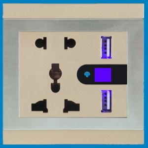 Universal Dual USB Wall Socket with Lighting