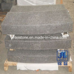 Flamed Surface G684 Basalt Stone Curved Kerb for Road pictures & photos