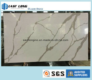 Calacatta Serious Artiticial Quartz Stone for Kitchen Countertop/ Table Top/ Building Material pictures & photos