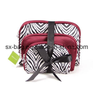 Beauty Cosmetic Bag with Zebra-Stripe