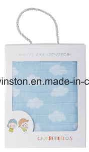 Various Designs of Cotton Muslin Baby Blankets pictures & photos