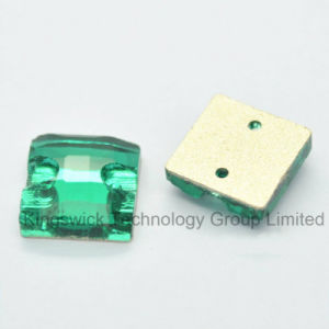 Non Hot-Fix Square Shaped Glass Rhinestones for Sewing pictures & photos