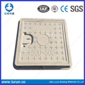 En124 A15 FRP Drainage Composite 600X600 Manhole Cover with Screw pictures & photos