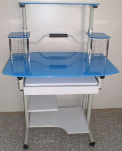 Glass Computer Desk (KA-210 Blue)