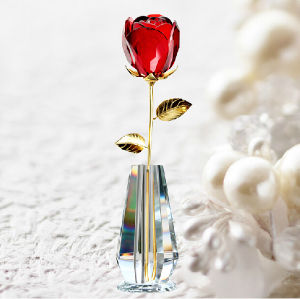 Crystal Red Rose Flower for Valentines Gifts pictures & photos