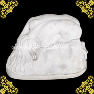 Natural Marble Kneeling Woman Sculpture pictures & photos