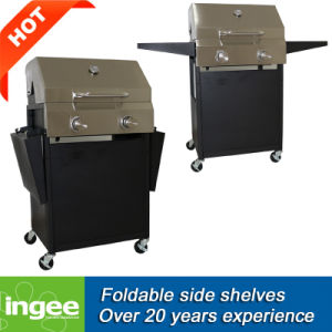 Gas Grill Folding Side Shelves 2-Burner BBQ pictures & photos