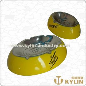 Metal Oval Ashtray