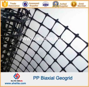 PP Biaxial Geogrid with Aperture Dimensions 65mmx65mm pictures & photos
