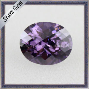 Charming Amethyst Synthetic Loose Cubic Zirconia for Jewelry pictures & photos