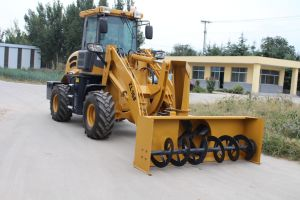 1.6ton Mini Shovel Loader with Snow Blower pictures & photos