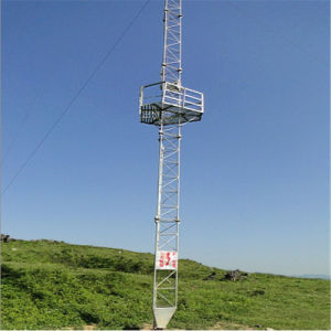 Galvanized Guy Mast Telecommunication Steel Tower pictures & photos