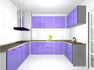 Modular High Glossy UV Kitchen Cabinet, Modern Kitchen Cabinet pictures & photos