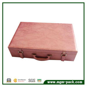 Crocodile Leather Wooden Wine Box with Handle pictures & photos