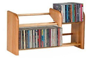 Double Layer Wood CD Racks (JHWOLIRADI07S)