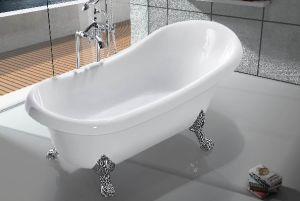 Acrylic Classical Royal Soaking Freestanding Bathtub with 4PCS Clawfoot pictures & photos