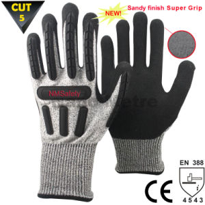 Nmsafety Hot Sale Anti-Cut High Impact Resistant Mechanic Gloves pictures & photos