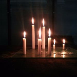 19cm Length Paraffin Candle to Ivory Coast Abidjan Port pictures & photos