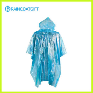 Clear Cheap Emergency PE Rain Poncho (RPE-145) pictures & photos