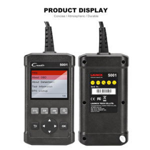 Launch Creader 5001 Diagnostic Tool Full Functions OBD2 Scanner with O2 Sensor Test and on-Board Monitor Component Diagnosis pictures & photos
