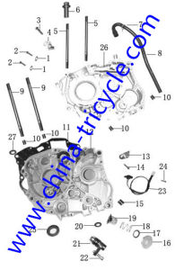 Spare Parts of Crankcase of Tricycle Engine (SP-SP-14) pictures & photos