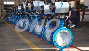 Metal Hard Sealing Eccentric Cast Iron Butterfly Valves pictures & photos