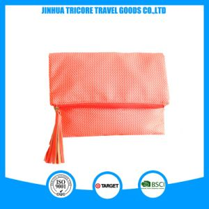 Hot Sell Microfiber Custom Promotional Cosmetic Bag with Tassel pictures & photos