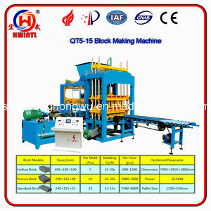 Qt5-15b Concrete Brick Machine