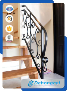 Indoor Stair Steel Fence / Galvanized Wrought Iron Staircase Railing Balustrade pictures & photos