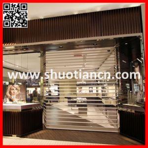 Motorized Transparent PC Commercial Rolling Door (ST-002) pictures & photos