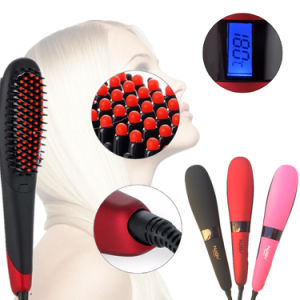 New Beauty Star Nasv300 LCD Hair Straightener Brush with Ionic Function pictures & photos