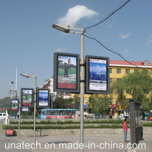 LED Outdoor Street Lamp Pole Advertising Scrolling Light Box pictures & photos