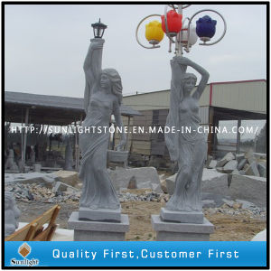 Garden Decoration Natural Marble Sculpture with Lantern pictures & photos