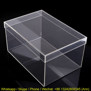 Custom Top Quality Clear Acrylic Shoe Box pictures & photos