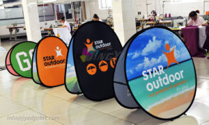 Full Color Print Durable Round/Circle A-Frame Pop Up Display Banners pictures & photos