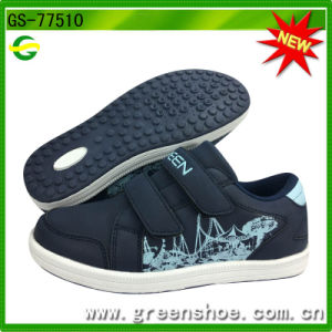 Hot Selling Lightweight Material Stretch Outsole Kid Shoes Without Lace pictures & photos